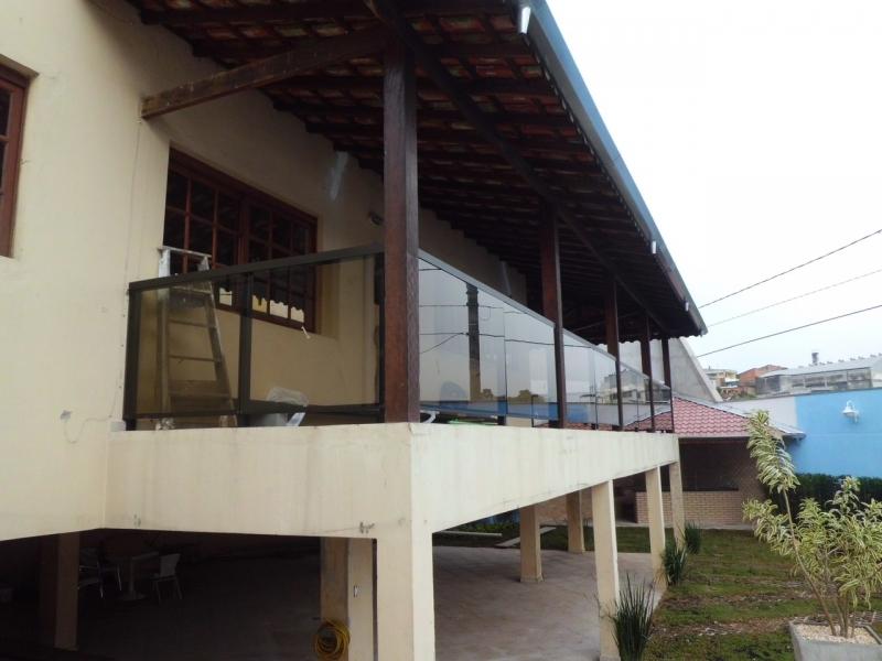 Esquadria em Alumínio Preto ABC - Esquadria em Vidro Temperado