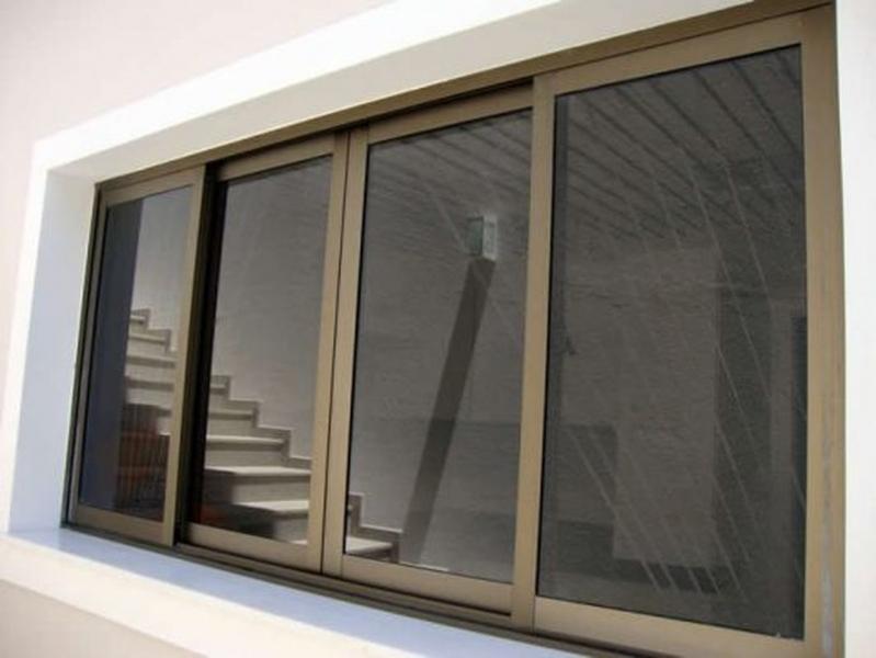 Esquadrias Alumínio Bronze Vila Suzana - Esquadria em Vidro Temperado