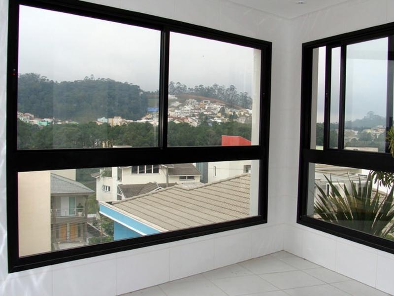 Esquadrias em Alumínio Preto Vila Anastácio - Esquadria de Alumínio