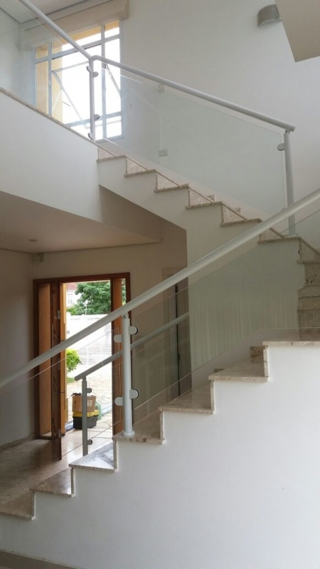 Guarda Corpo de Vidro Escada Valor Santana de Parnaíba - Guarda Corpo de Vidro Escada