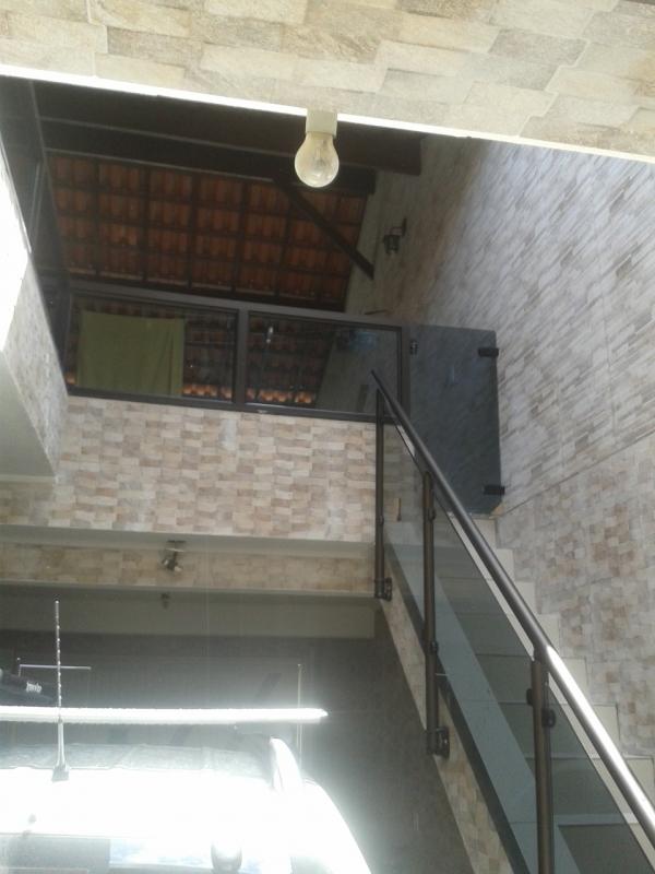 Guarda Corpo de Vidro Escada Pinheiros - Guarda Corpo de Vidro Escada