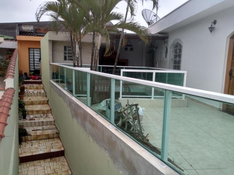 Guarda Corpo em Vidro Valor Jardim Guarapiranga - Corrimão e Guarda Corpo de Vidro