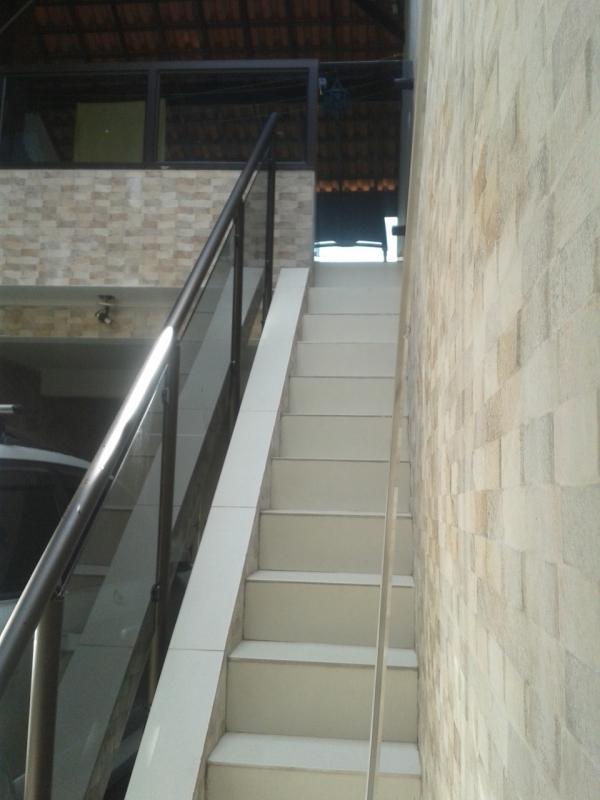 Orçamento Guarda Corpo de Vidro Escada Casa Verde - Guarda Corpo área Externa