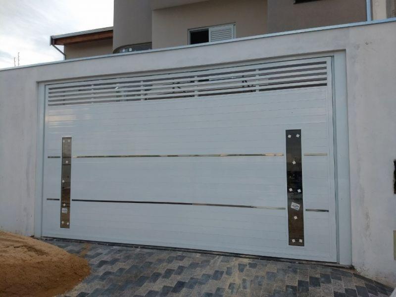 Portão de Alumínio com Vidro Qual o Preço de Embu - Portão de Alumínio com Motor