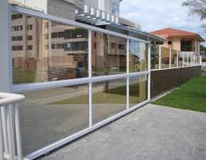 Portão de Alumínio com Vidro Valor Jardim Europa - Portão de Alumínio com Motor