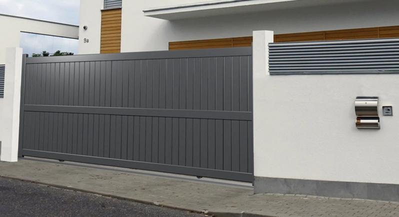 Portão de Alumínio Correr Qual o Preço de Jardim Guarapiranga - Portão de Alumínio com Motor