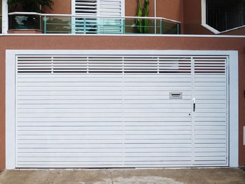 Portão de Alumínio para Garagem Qual o Preço de Jardim Santa Terezinha - Portão de Alumínio com Motor