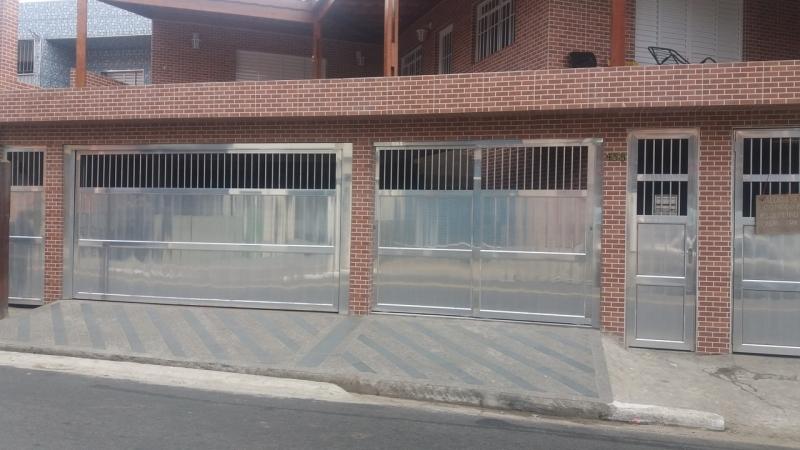 Portão de Alumínio para Garagem Vila Albertina - Portão de Alumínio com Motor