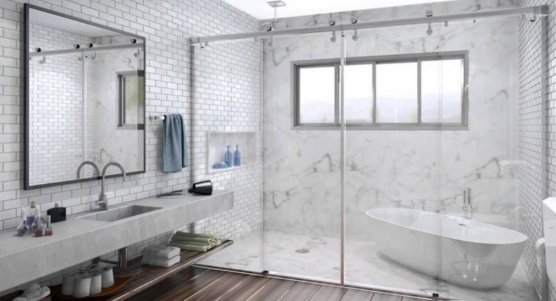 Quanto Custa um Box de Vidro de Banheiro Pacaembu - Box de Vidro de Canto