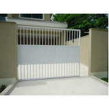 comprar portão de alumínio branco de correr Franco da Rocha
