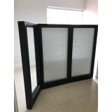 divisória de vidro com persiana embutida preço Lapa