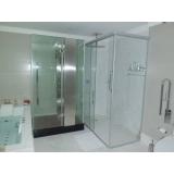 divisória de vidro para banheiro preço Parque São Jorge