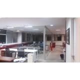 divisória de vidro temperado preço Vila Gustavo