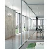 divisória de vidro acústica
