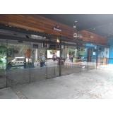 esquadrias em vidro temperado Jardim Helian