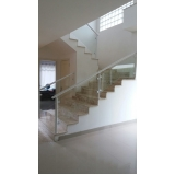 guarda corpo de vidro escada preço Campo Limpo