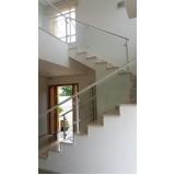 guarda corpo de vidro escada valor Vila Ré