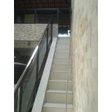 orçamento guarda corpo de vidro escada Santa Cecília