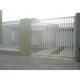 portão de alumínio branco de correr qual o preço de Pedreira