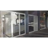 portão de alumínio com vidro Vila Dila