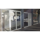 portão de alumínio com vidro Jardim Morumbi