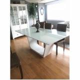 preço de móveis com vidro branco Parque Colonial