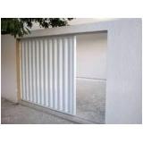 valor de portão de alumínio branco de correr Cantareira