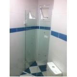 venda de box de vidro para banheiro pequeno Sacomã